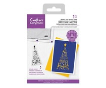 Crafter's Companion Merry and Bright Tree Clear Stamps (CC-STP-MBRI)