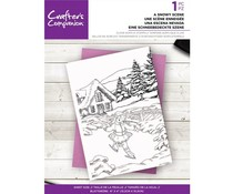 Crafter's Companion A Snowy Scene Clear Stamps (CC-ST-CA-SNOWSCE)
