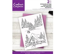 Crafter's Companion Woodland Cottage Clear Stamps (CC-ST-CA-WOODCOT)