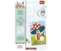 Crafter's Companion Gnomes Stencil & Die Gnome Home (NG-GN-STEND-GHO)
