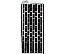 Picket Fence Studios Slim Line Horizontal English Brick Wall 4x10 Inch Stencil (SC-263)