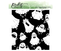 Picket Fence Studios Boo! I See You! 4x4 Inch Clear Stamps (H-113)