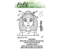 Picket Fence Studios Sagittarius Girl 4x6 Inch Clear Stamps (HG-110)