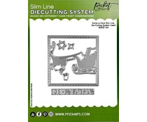 Picket Fence Studios Santa is Here Slim Line 4x4 Inch Die Cutting System Insert (SDCS-124)