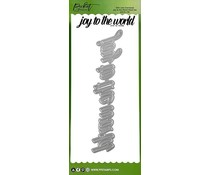 Picket Fence Studios Slim Line Oversized Joy to the World Word 4x10 Inch Dies (SDCS-130)
