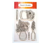 Jane's Doodles Fresh Cut Flowers Clear Stamps (JD0185)