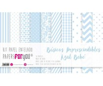 Papers For You Basicos Imprescindibles Azul Bebe Canvas Scrap Pack (10 pcs) (PFY-3940)