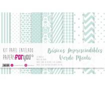 Papers For You Basicos Imprescindibles Verde Menta Canvas Scrap Pack (10 pcs) (PFY-3951)