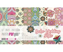 Papers For You Boho Wedding Style Canvas Scrap Pack (8pcs) (PFY-3231)
