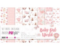 Papers For You Baby Girl World Canvas Scrap Pack (8pcs) (PFY-3472)