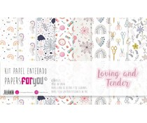 Papers For You Loving and Tender Canvas Scrap Pack (8pcs) (PFY-4207)