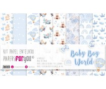 Papers For You Baby Boy World Canvas Scrap Pack (8pcs) (PFY-3481)