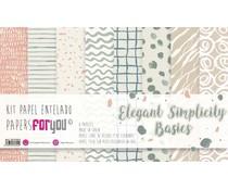 Papers For You Elegant Simplicity Basics Canvas Scrap Pack (8pcs) (PFY-3324)
