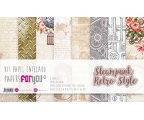 Papers For You Steampunk Retro Style Canvas Scrap Pack (8pcs) (PFY-4058)