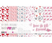 Papers For You Love Is All Around Canvas Scrap Pack (6pcs) (PFY-3415)