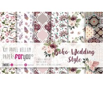 Papers For You Wedding Boho Style Vellum Paper Pack (6pcs) (PFY-3173)