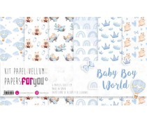 Papers For You Baby Boy World Vellum Paper Pack (6pcs) (PFY-3557)