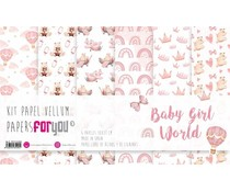 Papers For You Baby Girl World Vellum Paper Pack (6pcs) (PFY-3490)
