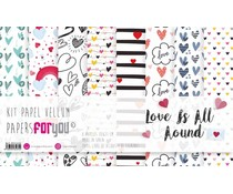 Papers For You Love Is All Around Vellum Paper Pack (8pcs) (PFY-3431)