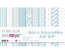 Papers For You Basicos Imprescindibles Azul Bebe Vellum Paper Pack (10pcs) (PFY-3896)