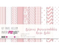Papers For You Basicos Imprescindibles Rosa Bebe Vellum Paper Pack (10pcs) (PFY-3907)