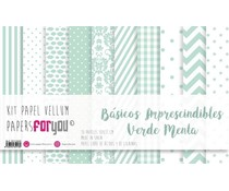 Papers For You Basicos Imprescindibles Verde Menta Vellum Paper Pack (10pcs) (PFY-3918)