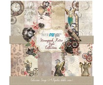 Papers For You Steampunk Retro Style Mini Scrap Paper Pack (24pcs) (PFY-3657)