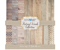 Papers For You Natural Woods Mini Scrap Paper Pack (24pcs) (PFY-1582)