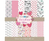 Papers For You Love Is All Around Mini Scrap Paper Pack (24pcs) (PFY-3052)