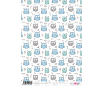 Papers For You Scandi Style Owls A4 Rice Paper (6 pcs) (PFY-2134)
