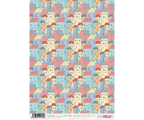 Papers For You Scandi Style Multi Houses A4 Rice Paper (6 pcs) (PFY-2132)