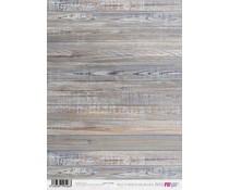 Papers For You Paneles De Madera Veteada Horizontal A4 Rice Paper (6 pcs) (PFY-2526)