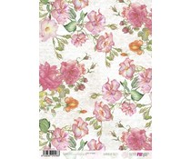 Papers For You Romantic Roses A4 Rice Paper (6 pcs) (PFY-2498)