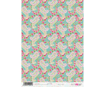 Papers For You Paisley Rose A4 Rice Paper (6 pcs) (PFY-2091)