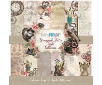 Papers For You Steampunk Retro Style Scrap Paper Pack (8pcs) (PFY-3405)