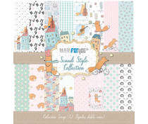 Papers For You Scandi Style Scrap Paper Pack (12pcs) (PFY-1727)