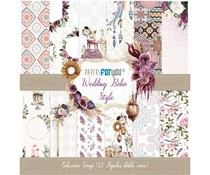 Papers For You Wedding Boho Style Scrap Paper Pack (12pcs) (PFY-3159)