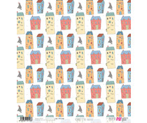 Papers For You Scandi Style Houses Rice Paper (6 pcs) (PFY-2158)