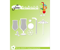 By Lene Drinks Cutting & Embossing Dies (BLD1379)