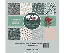 By Lene Romantic Christmas 6x6 Inch Paper Pack (BLP023)