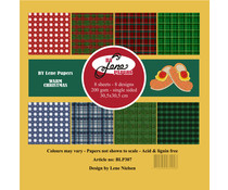 By Lene Warm Christmas 12x12 Inch Paper Pack (BLP307)