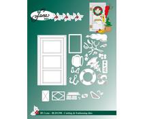 By Lene Christmas Door Cutting & Embossing Dies (BLD1390)