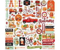 Carta Bella Welcome Autumn 12x12 Inch Element Sticker (CBWA138014)