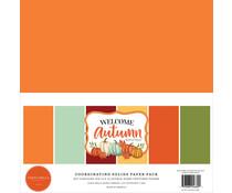 Carta Bella Welcome Autumn 12x12 Inch Coordinating Solids Paper Pack (CBWA138015)