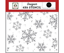 Carta Bella White Christmas Stencil (CBHFC139033)