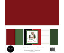Carta Bella Home For Christmas 12x12 Inch Coordinating Solids Paper Pack (CBHFC139015)