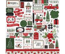 Carta Bella Home For Christmas 12x12 Inch Element Sticker (CBHFC139014)