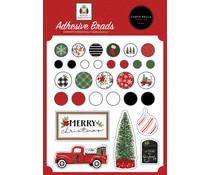 Carta Bella Home For Christmas Adhesive Brads (CBHFC139020)