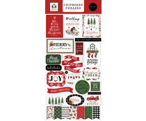 Carta Bella Home For Christmas Chipboard Phrases (CBHFC139022)