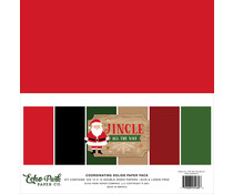 Echo Park Jingle All The Way 12x12 Inch Coordinating Solids Paper Pack (JIN252015)